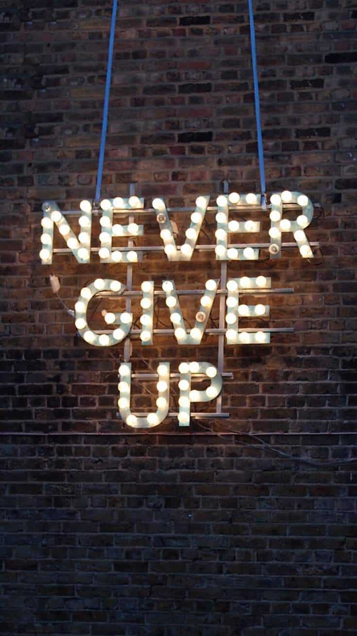 Never Give Up | Covetboard Quotes