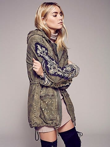 Free People Golden Quills Military Parka | Covetboard Urbanist Fashion Lifestyle