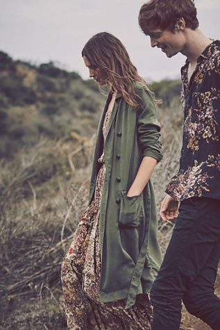 Free People Sensual Military Duster | Covetboard Artisan Fashion Lifestyle