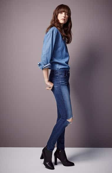Oversize Chambray Boyfriend Shirt | Nordstrom - Covetboard Modernist Fashion Lifestyle