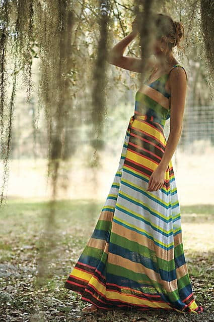 Spectrum Stripe Maxi Dress | Anthropologie - Covetboard Classic Fashion Lifestyle