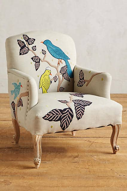 Treescape Dorrance Birds Chair - Anthropologie - Covetboard Indie Lifestyle Home