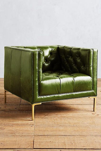 Anthropologie Leather Mina Armchair | Covetboard Artisan Home Lifestyle