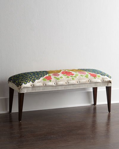 Haute House Peacock Bench | NEIMAN MARCUS. Covetboard Bohemian Home Lifestyle