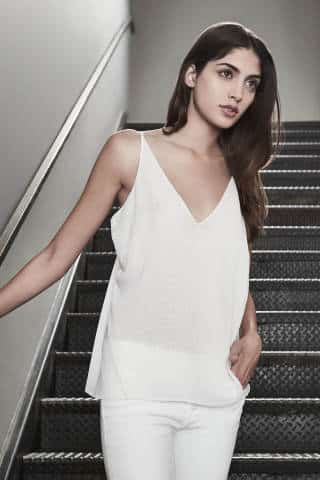 J BRAND Lucy Camisole in White | Covetboard Minimalist Fashion Lifestyle